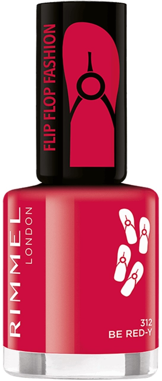 Rimmel Flipflop Fashion 8 ml Lakier do paznokci 312 Be Red-Y