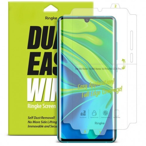 Ringke Rearth Folia hydrożelowa na ekran i boki Dual Easy Wing Xiaomi Mi Note 10 8809688896736