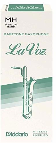 Rico La Voz baryton saksofon trzciny, średni twardy, 5-pak RLC05MH