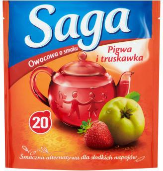 Saga Herbata ekspresowa pigwa i truskawka 20 torebek