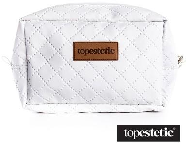 Topestetic (R) Topestetic (R) Kosmetyczka Topestetic Biała, pikowana