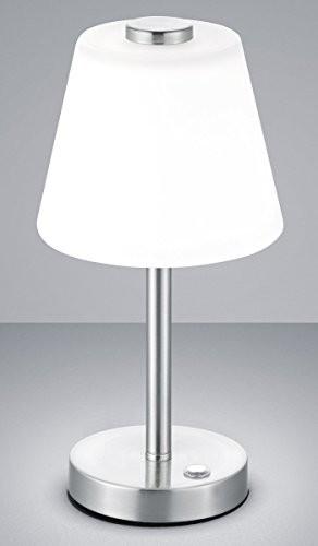 Trio Leuchten 525490107 LED Emerald Biały/nikiel matowy lampa stołowa lampka nocna lampa stołowa lampa stołowa 4 Touch Me w Leuchten 525490107 Emerald