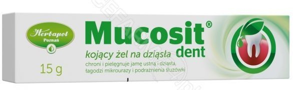 Herbapol POZNAŃSKIE ZAKŁADY ZIELARSKIE S.A. Mucosit Dent żel do stosowania na dziąsła 15 g 7068399