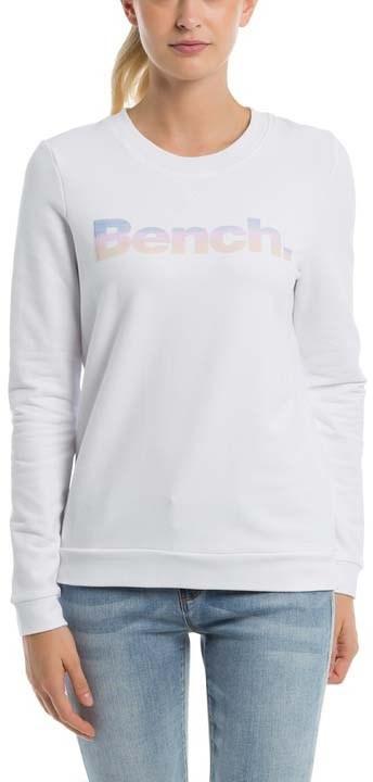 Bench koszulka Logo Crew Neck Snow White WH11210) rozmiar S