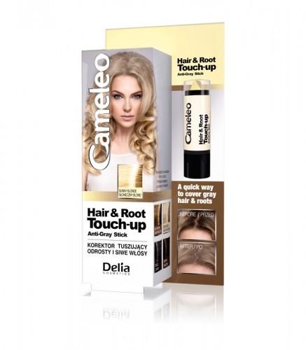 DELIA Cosmetics Cameleo Korektor tuszujący odrosty i siwe włosy Słoneczny blond 4,6g
