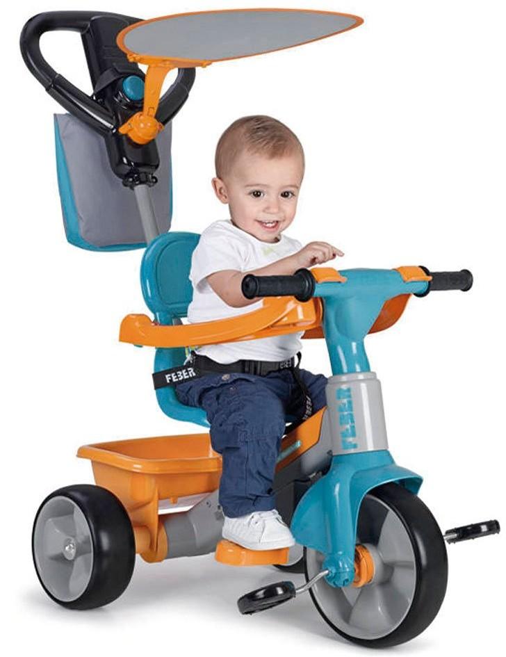 Feber Baby Plus Music 3w1 niebieski-pomarańczowy