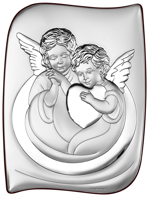 Beltrami Srebrny Obrazek Anioł Stróż   Rozmiar: 7.5x10 cm   SKU: BC6519/2