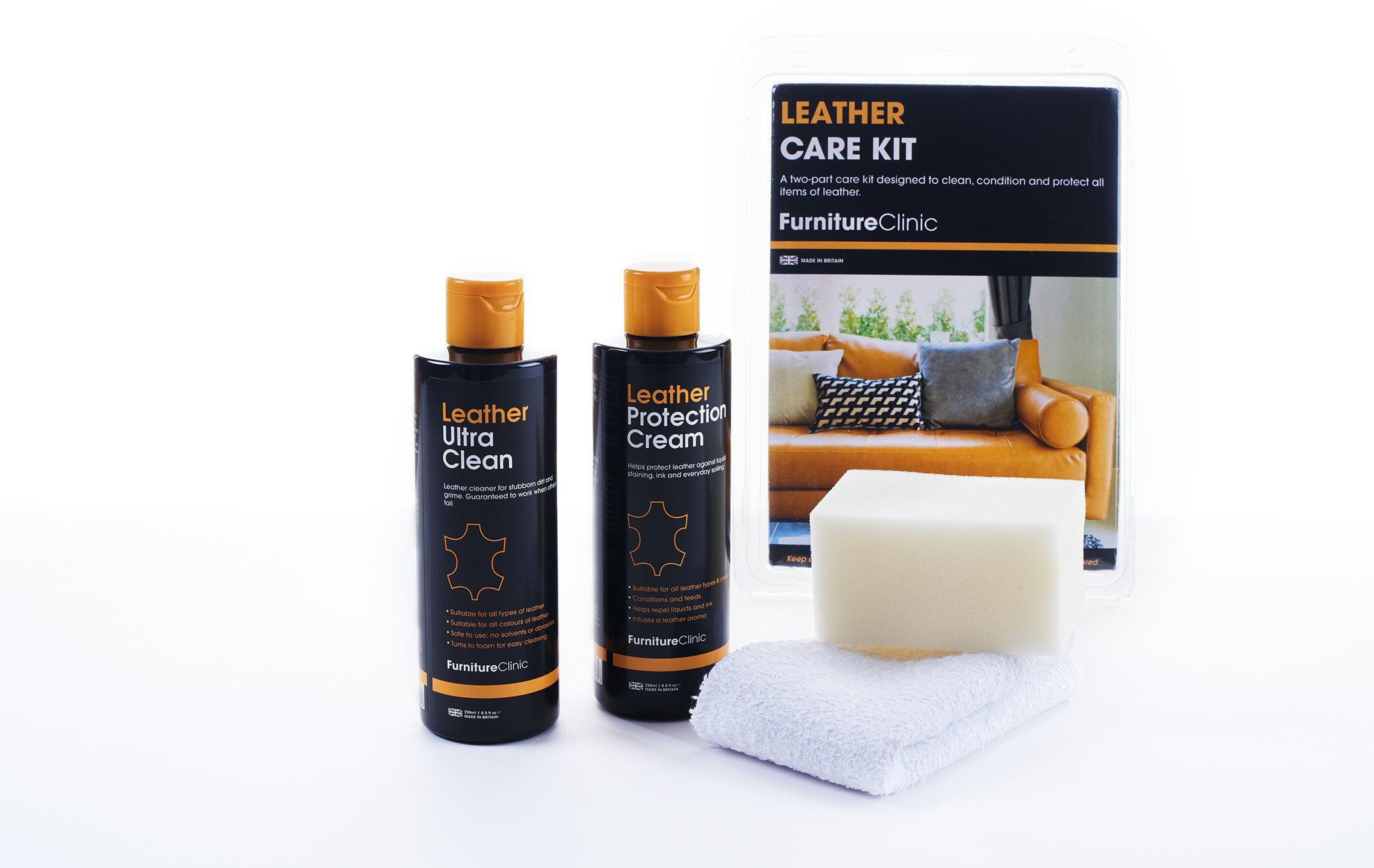Furniture Clinic Leather Care Kit 2x250ml zestaw do pielęgnacji i konserwacji skóry FUR000001