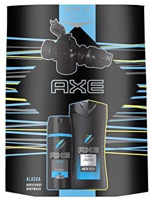 Axe Zestaw upominkowy Alaska (spray do ciała 150 ml + żel pod prysznic 250 ml + butelka wodna)