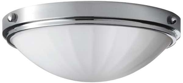 Feiss LAMPA sufitowa FE/PERRY/F BATH Elstead szklana OPRAWA plafon łazienkowy IP44 polerowany chrom biały FE/PERRY/F BATH