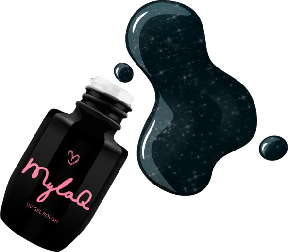 MyLaq Lakier Hybrydowy MylaQ My Sparkling Galaxy - 5 ml M100-2