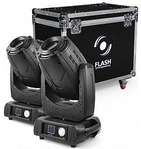 Flash Butrym Ruchoma głowa 2x 3R Moving Head 3in1 BEAM+SPOT+WASH, ZOOM (SET) F7100511