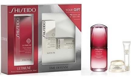 Shiseido Ultimune Power Infusing Concentrate Koncentrat pielęgnacyjny 30ml + Bio-Performance Super Corrective Eye Krem korygujący pod oczy 5ml + Bio-Performance Advanced Super Revitalizing Rewitalizuj