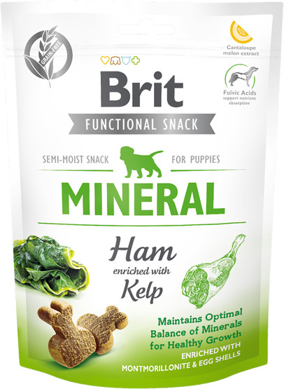 Brit BRIT CARE DOG FUNCTIONAL SNACK MINERAL HAM PUPPY 150g 37238-uniw