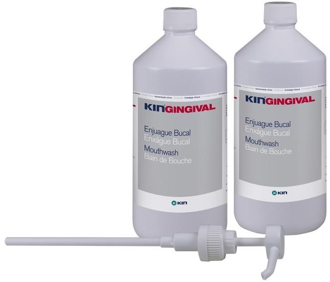 Kin Laboratorios Kin Gingival Płyn Alpantha do płukania jamy ustnej 2 x 1000 ml <b>pompka w zestawie</b>