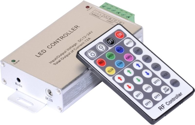 Majmak Sterownik + Pilot Radiowy do Taśm RGB 28 przycisków 144W MAJ0181