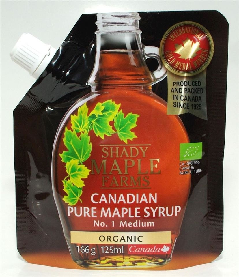 Shady Maple Farms (syrop klonowy) SYROP KLONOWY A BIO 166 g (125ml) - 66676201257