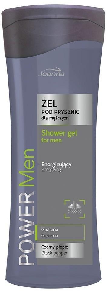 Joanna Power Men Energizing Shower Gel For Men Czarny Pieprz & Guarana 300ml