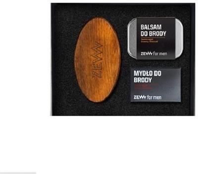Zew for men Zadbany Brodacz zestaw balsam do brody 80ml + mydło do brody 85ml + Szczotka Brodacza do profesjonalnej pielęgnacji zarostu 52843-uniw