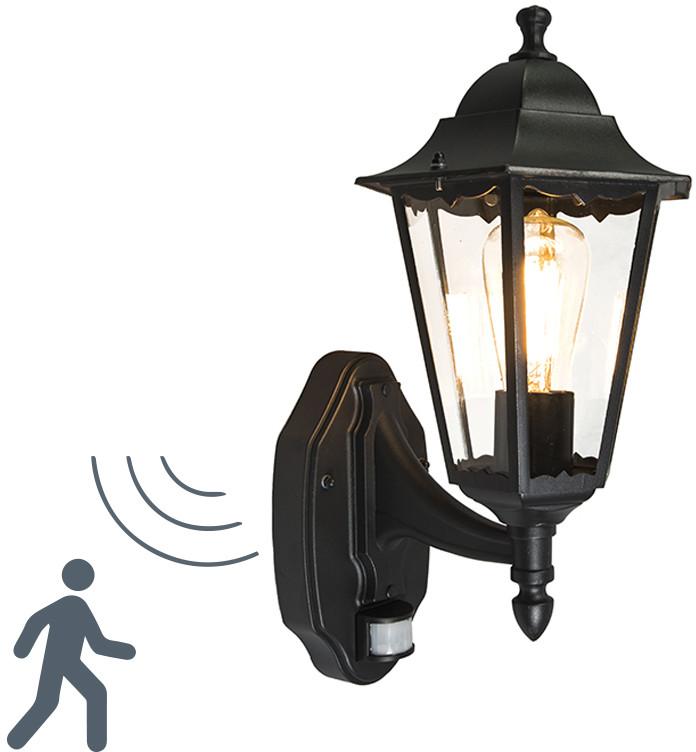 QAZQA QAZQA Zewnętrzna lampa ścienna New Orleans górna czarna 91574