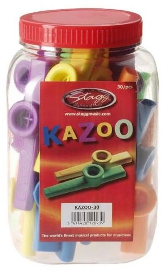 Stagg KAZOO 30 - kolorowe kazoo, opakowanie 30 szt. 22037