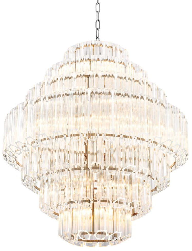 Casablanca Crystal Tubes & Gold 66cm - żyrandol kryształowy 66 CH