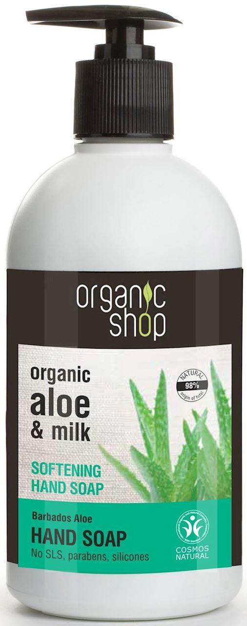 Organic SHOP (kosmetyki) MYDŁO W PŁYNIE DO RĄK ZMIĘKCZAJĄCE BARBADOSKI ALOES ECO 500 ml - SHOP