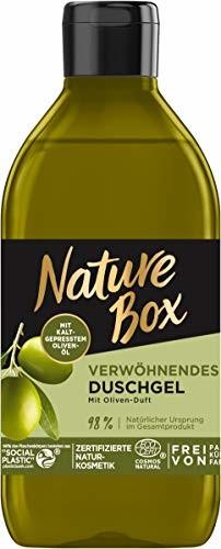 Nature Box rozpieszczający żel pod prysznic o zapachu oliwek, 250 ml
