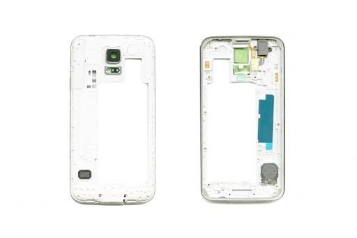 Samsung S5 SM-G900F Ramka Obudowa Korpus Silver