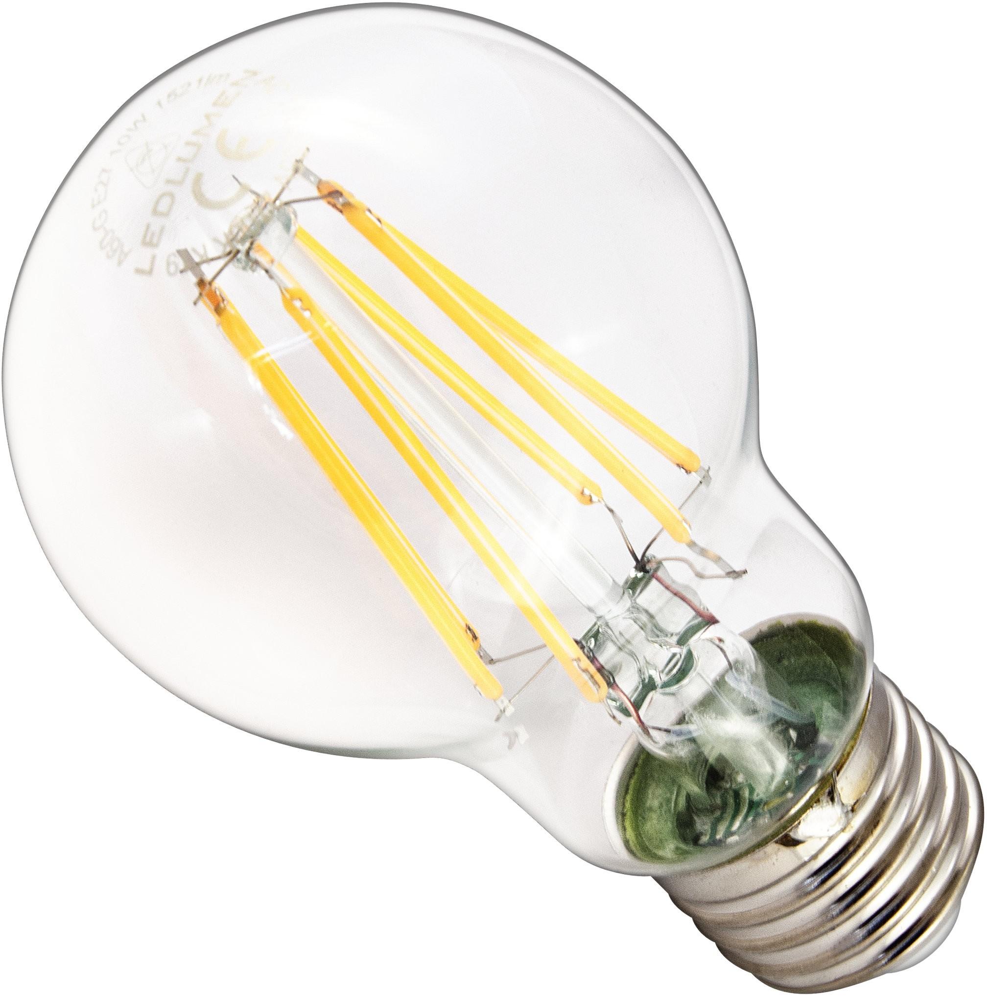 LEDlumen Żarówka LED A60-G E27 230V 10W FILAMENT 1521lm WW 251090392