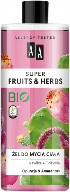 Oceanic Super Fruits&Herbs żel do mycia ciała opuncja/amarantus 500ml 52823-uniw
