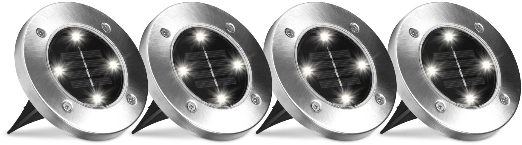 Top Shop Lampa solarna Disk Lights zestaw 4 sztuk Top Shop