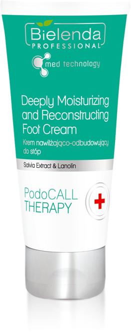 Bielenda Professional Krem nawilżająco - odbudowujący do stóp PodoCALL Therapy Professional