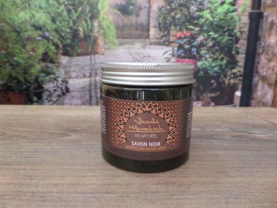 Beaute Marrakech Naturalne Czarne Mydło SAVON NOIR w postaci czarnej pasty do twarzy i ciała 200g