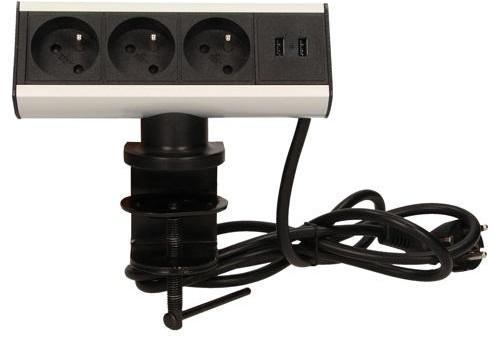 Orno Gniazdo biurkowe 3x250V z ładowarką USB OR-AE-13101 OR-AE-13101