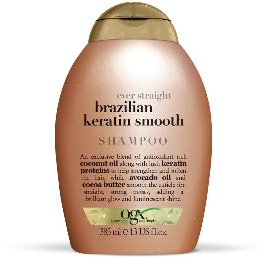 OGX Wygładzający szampon z brazylijską keratyną