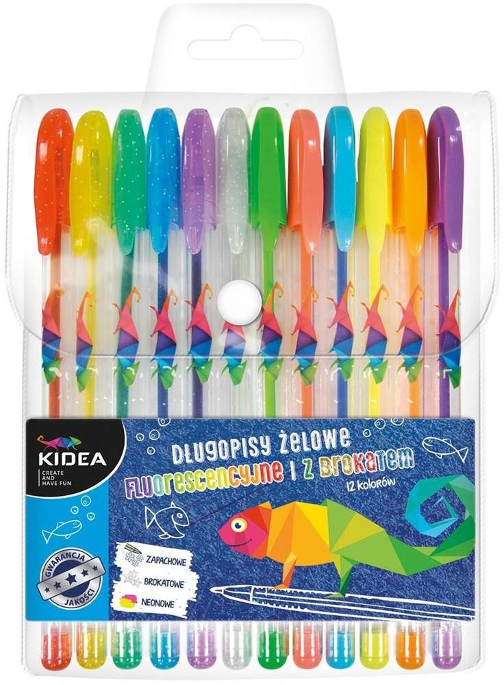 Derform Długopisy żelowe 12 kolorów