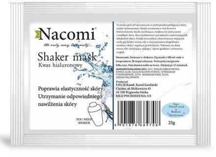 Nacomi Algowa maska do twarzy z kwasem hialuronowym - Shaker Mask Algowa maska do twarzy z kwasem hialuronowym - Shaker Mask