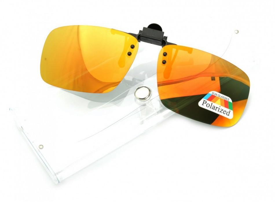 POLARIZED Nakładki lustrzane polaryzacyjne na okulary korekcyjne + ETUI - NA-163A NA-163A