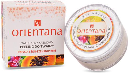 Orientana Papaja i Żeńszeń Indyjski Kremowy Peeling do Twarzy 50 g 1234580784