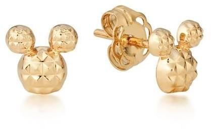 Goebel Mickey - Diamond Cut Earrings 9K Gold 12100731