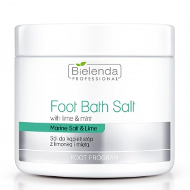 Bielenda Professional Foot Bath Salt With Lime & Mint sól do kąpieli stóp z limonką i miętą 600g