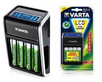 Varta LCD Plug Charger + 4 Akumulator AA 2100 mAh