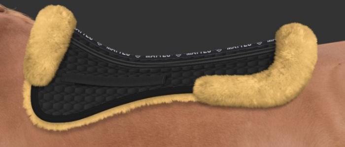 Mattes Podkładka pod siodło ujeżdżeniowe z futrem naturalnym Correction System - wysyłka 24h