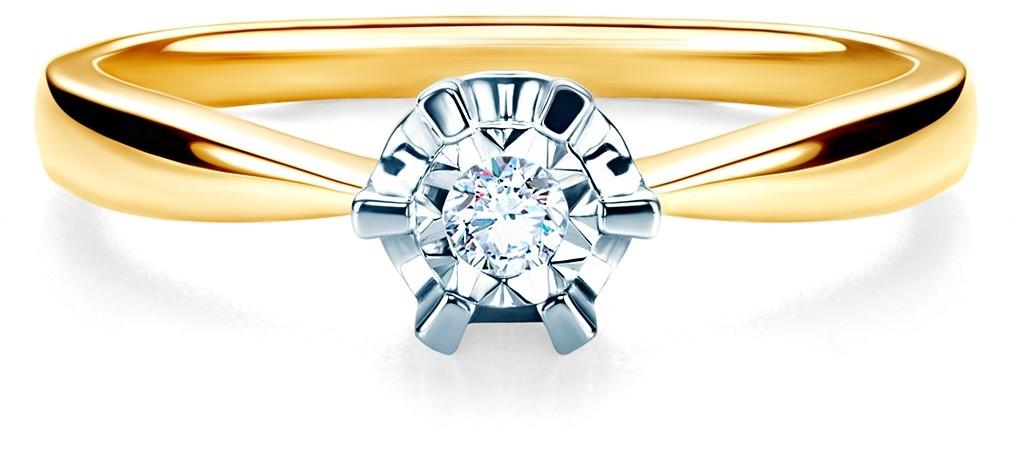 Savicki Pierścionek zaręczynowy dwukolorowe złoto, diament SAVR54803 YW