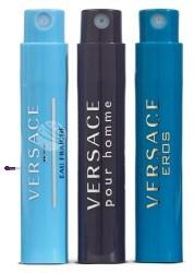 Versace SET Mini Perfume M) Eros edt 1ml + Man Eau Fraiche edt 1ml + Pour Homme edt 1ml