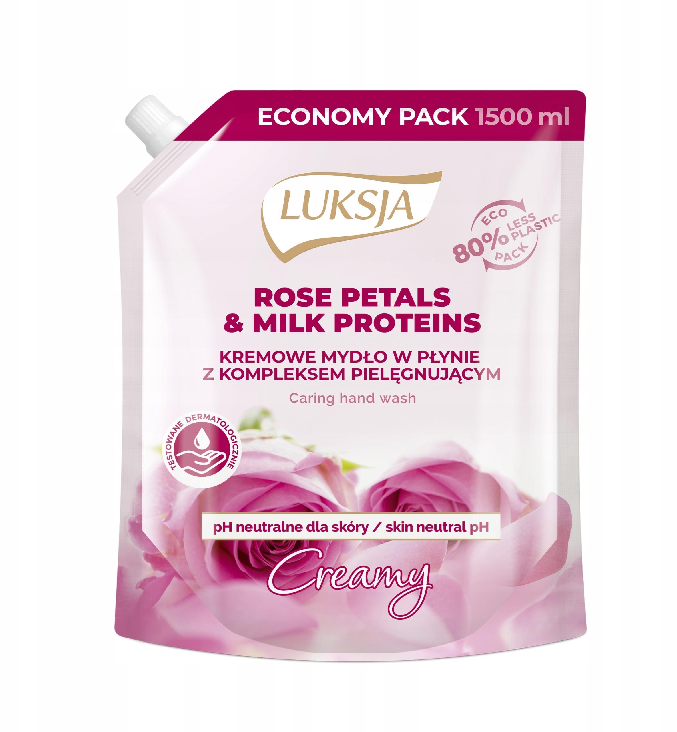 Luksja Mydło w płynie Rose Petals Zapas 1500 ml