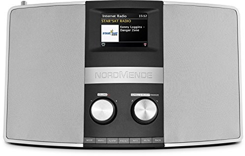 TechniSat Nordmende transita 400 Multiroom Hybrid-radio wzornictwo do odbioru DAB +/FM czarny/srebrny 78-3002-00