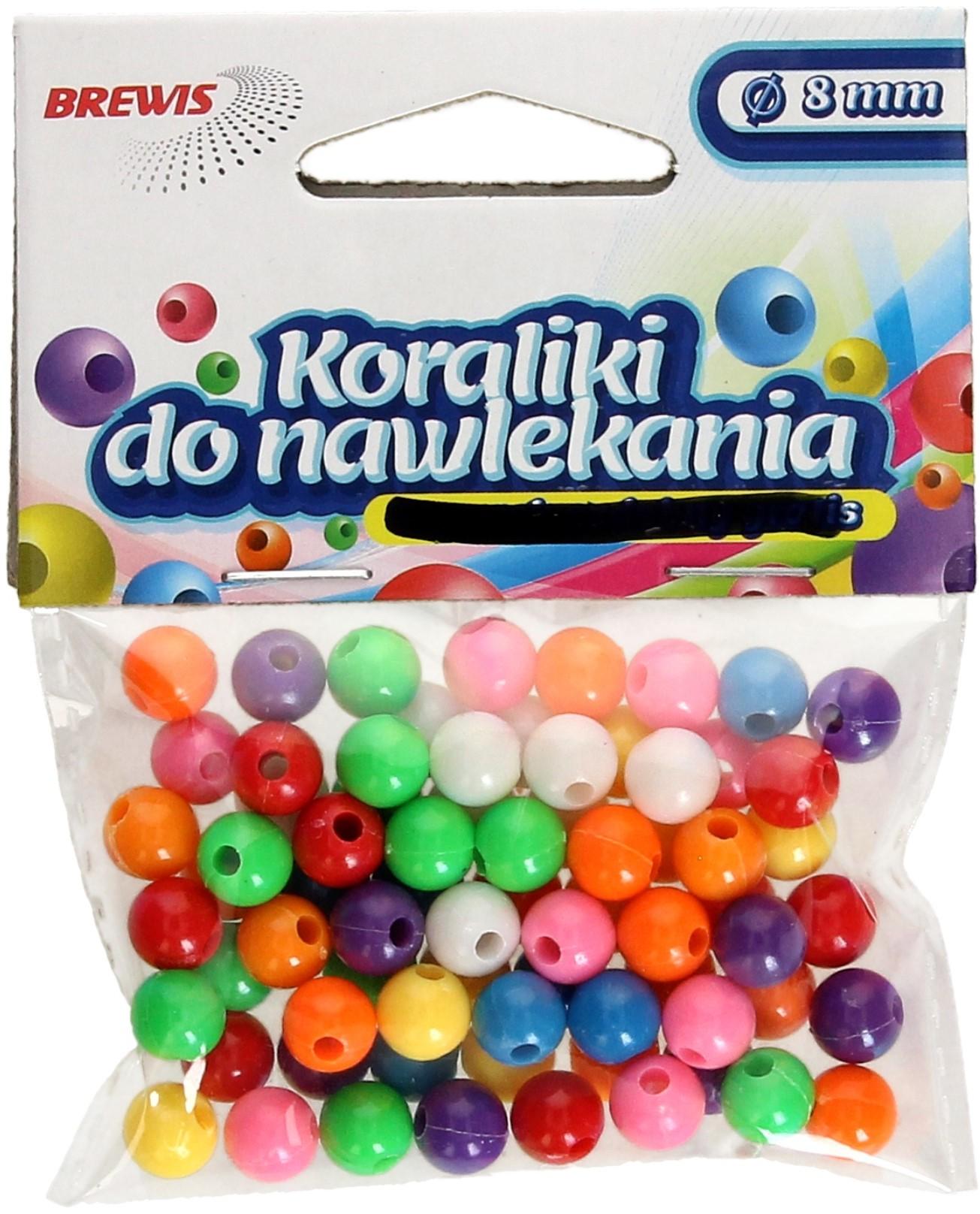 Brewis Koraliki ozdobne mix K8 8mm VB8862
