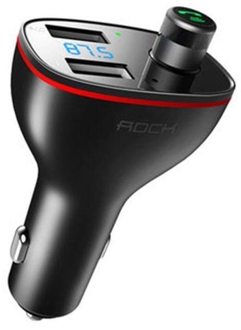 Rock B300 2-PORT Usb Car Charger + Transmiter Fm c